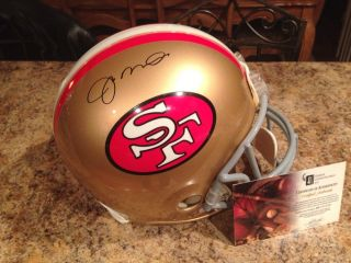 Joe Montana Signed 49ers Helmet