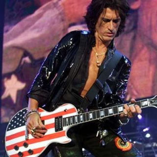 Miniature Guitar Joe Perry Gibson Les Paul US Flag Custom Signature