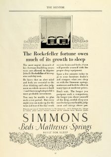 Bed Mattress Springs Furniture John D Rockefeller Fortune Sleep