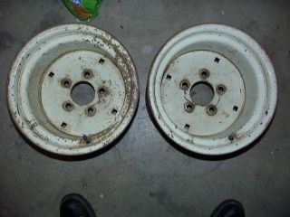 John Deere Wheel Horse Cub Cadet 12 Rear Wheels Rims PAIR for 26x12x12 Pulling