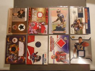 Huge Lot 24 NFL All Jersey Cards Game Used Lot of 24 Cards All Memorabilia List