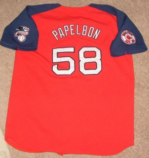 Jonathan Papelbon Boston Red Sox Jersey Shirt SEWN PATCH Youth Kids XL NIKE