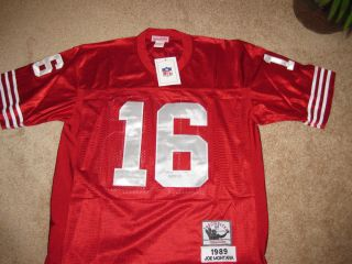 NWT JOE MONTANA 49ers 1989 THROWBACK JERSEY MITCHELL NESS SIZE 50