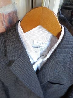 Joseph Abboud Brown 2 BTN Wool Mens Blazer Jacket Sport Suit Coat 42R 42 Regular