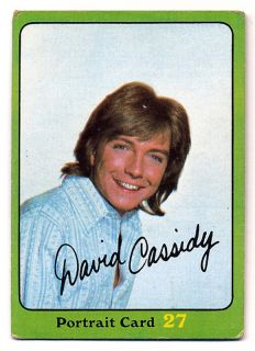 FAMILY 1971 Topps GREEN Portrait Card 27 80 DAVID CASSIDY as Keith