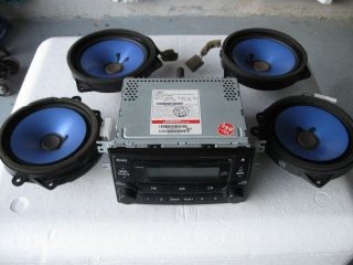 2005 Kia Spectra Car Factory Stereo w Speakers Am FM Radio CD