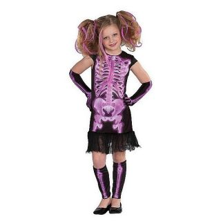 Halloween Costume Child Kids Girls Youth NWT Large Medium Skeleton X