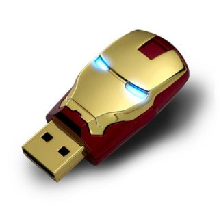 Ironman Mask 8GB 8 GB USB 2 0 Flash Memory Stick Pen Drive Keys