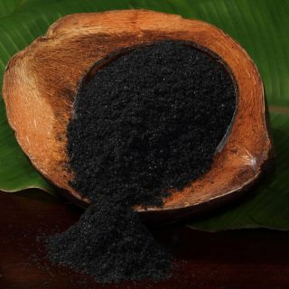 Hawaiian Black Lava Kilauea Fine Sea Salt 1 16 Oz