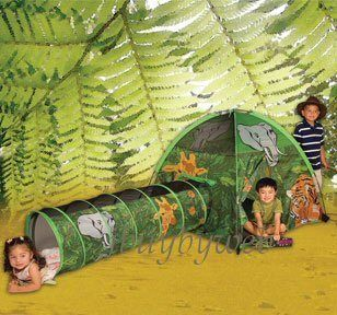 Kids African Adventure Safari Jungle Play Tent Tunnel
