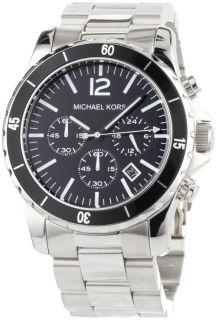 Michael Kors Watches Michael Kors Mens Silver Black Madison MK8140
