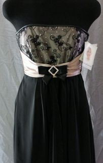 Jessica McClintock for Gunne Sax Long Black Formal Gown Size 1 Prom