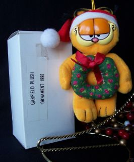 Kurt Alder Garfield Plush Christmas Ornament 1998 Santa Garfield with