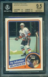 BGS 9 5 1984 85 OPC 129 Pat LaFontaine RC Rookie Gem Mint All 9 5s