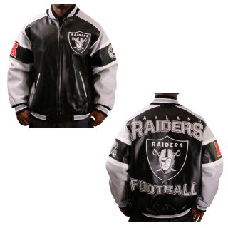 Oakland Raiders NFL Superbowl Mens Varsity Jacket Coat Leather