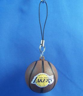Basketball Cellphone Dangler Charm Ornament Los Angeles Lakers