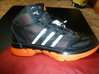 New Adidas Stupidly Light Basketball Shoes Black Orange Sz Mens 10 5