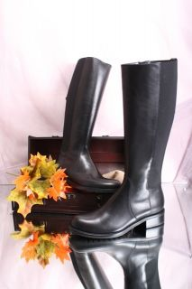 Laura Bellariva 3031 Black Leather Riding Knee High Boots 36 5 US 6 5