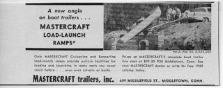 1959 Vintage Ad Mastercraft Boat Trailers Load Launch Ramps