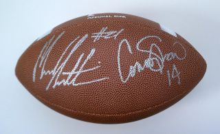 SOUTH CAROLINA GAMECOCKS MARCUS LATTIMORE CONNOR SHAW signed football