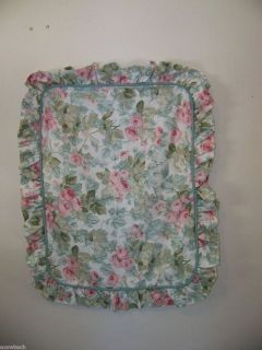 Laura Ashley Pink Cottage Rose Ruffled Pillow Sham