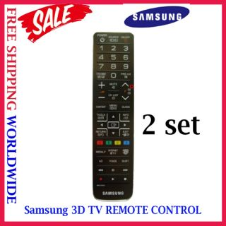 GENUINE BN59 01054A Samsung 3D SMART TV Remote Control LCD LED 2 SET