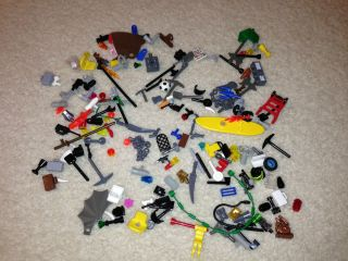Lego Minifigure Accessories lot 100+ Accessories / pieces lot Weapons