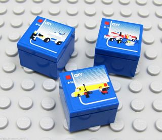 New Set 3 Blue Brick Mini Toy Lego Boxes Sets Sized 4 Lego City