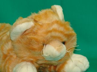 LIFELIKE FAO SCHWARZ KITTEN KITTY CAT ORANGE TIGER TABBY PLUSH STUFFED