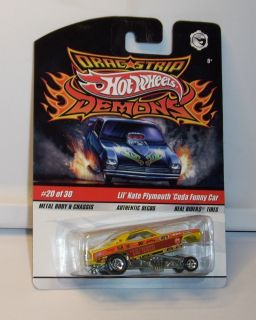 Hot Wheels Drag Strip Demons Lil Nate Plymouth Cuda Funny Car Real