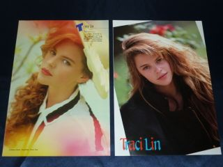 21 Lot Traci Lind Lin 1980s 90s JPN Pinup clippings Full Page Collec