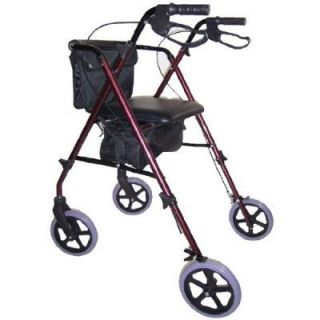 Lightweight Heavy Duty Rollator Folding Rolling Walker