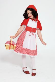 Little Red Riding Hood Girls Kids Grandma Wolf Fairytale Costume