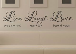 Live Laugh Love Quote Removable Wall Window Mural Decal Vinyl Sticker