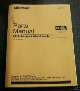 Cat Caterpillar 904B Wheel Loader Parts Manual Book Catalog Spare List