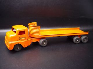 Structo Toys Pressed Steel Log Trailer Truck No 940