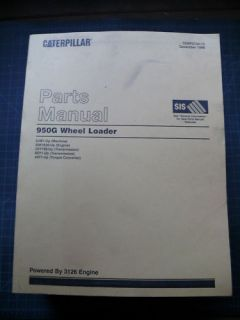 Cat Caterpillar 950G Wheel Loader Parts Manual Book Catalog Index