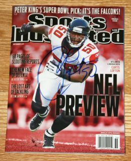 Curtis Lofton Atlanta Falcons Signed Sports Illustrated NFL Preview