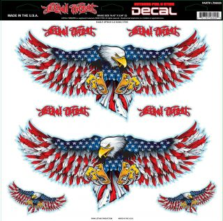 Lethal Threat American Eagle Attack Decal Sticker for Cars Motorcycles