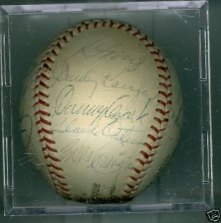 1966 Los Angeles Dodgers Team Signed Baseball