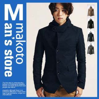 MAKOTO Mens Casual Slim Fit Blazer Jacket C018J