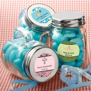 60 Personalized Glass Mason Jars Baby Shower Favors