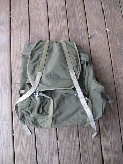 Original US Army WWII Mountain Pack Rucksack by Amer Fabrics Co 1943