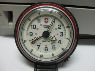 Victorinox Swiss Army Alarm Clock Dual Time Perfect