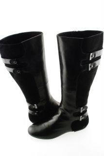 New Maria Sharapova by Cole Haan Air Milano Knee Tall Boot Shoe Black