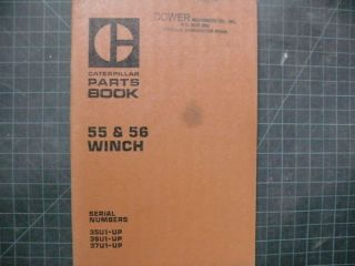 Cat Caterpillar 55 56 Winch Parts Manual Book D5 D4 D6