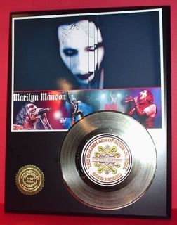 Marilyn Manson Gold 45 Record Limited Edition Display