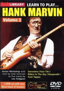 New Lick Library Learn to Play Hank Marvin 2 Shadows DVD Electric