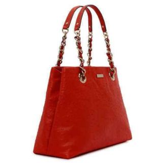 Kate Spade Victoria Falls Maryanne Handbag Tote Spicy Red New