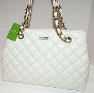 KATE SPADE NY MARYANNE GOLD COAST CLOTTED CREAM QUILTED LEATHER